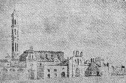 Imagen de finales del siglo XIX del manicomio de Zaragoza