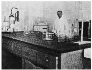 Imagen del laboratorio del hospital