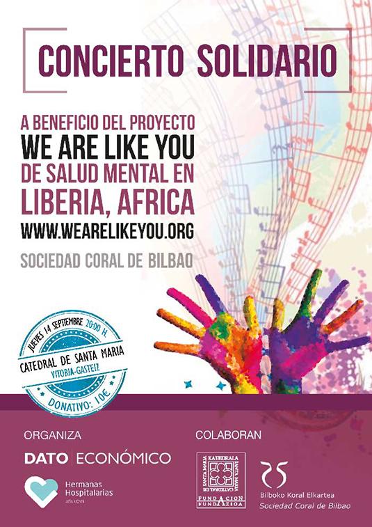 Septiembre reanuda los conciertos solidarios en favor de We are like you